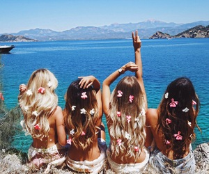 summer, friends, and girl image