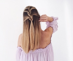 blonde, bob, and braid image