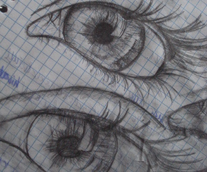 sketch, draw, and eyes image