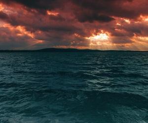 sea, nature, and sky image