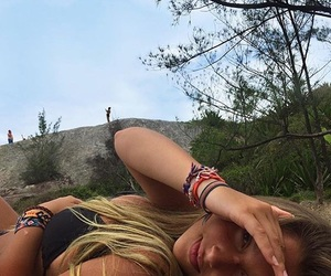 blonde, vacation, and girl image