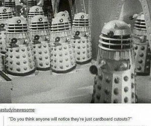 cardboard, tumblr post, and exterminate image