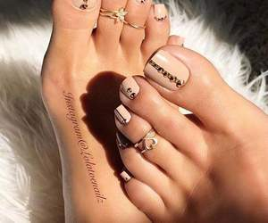 feet, nails, and Nude image