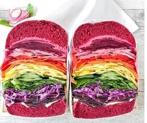 colors, food, and vegan image
