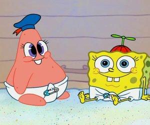 baby, patrick, and spongebob image