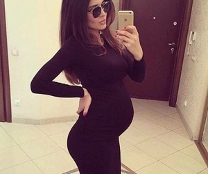 pregnant, mother, and style image