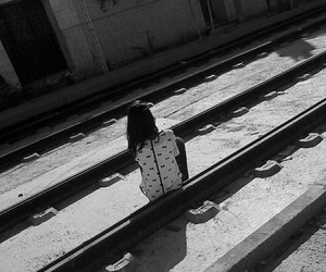 alone, beautiful, and black and white image
