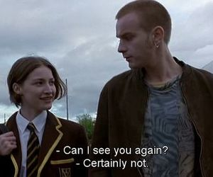 quote, trainspotting, and movie image