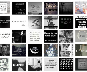 blackandwhite, silence, and Collage image