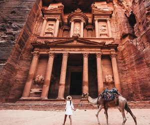 jordan, travel, and petra image
