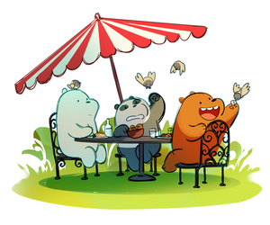 grizzly, icebear, and panda image