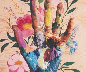 artsy, summer, and flowers image