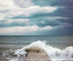 ocean, storm, and photography image