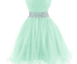 dress, mint green dress, and sparkly dress image