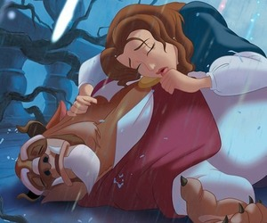 animation, beauty and the beast, and belle image