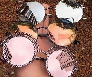 colors, fashion, and sunglasses image