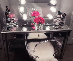makeup, vanity, and luxury image