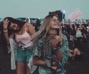 pink, teal, and festival image