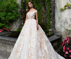 beauty, wedding dress, and bride image