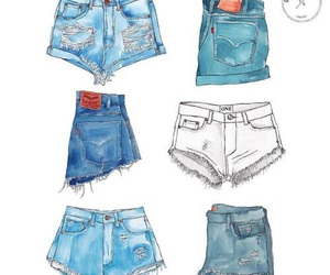 jeans, outfit, and shorts image