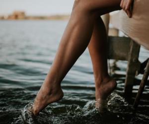 beach, legs, and dock image
