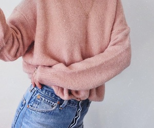 jeans, outfit, and pink image
