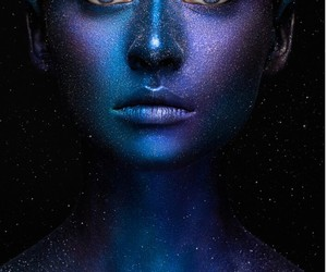 belleza, body painting, and galaxia image