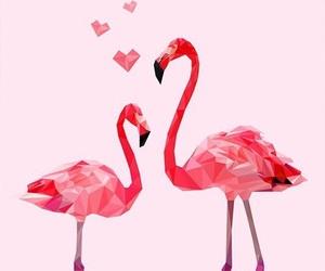 flamingo, wallpaper, and pink image