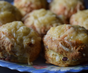 bacon, cheese, and scones image