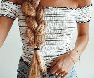 braid, fashion, and outfit image