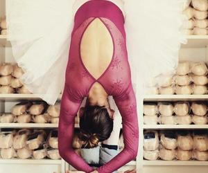 art, ballerina, and pink image
