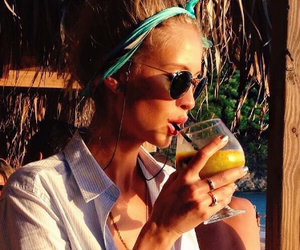 beauty, drink, and vacation image