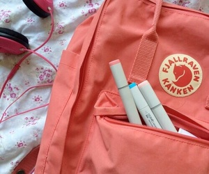 kanken, peach, and pink image