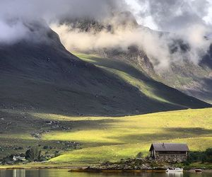 mountains, clouds, and landscape image
