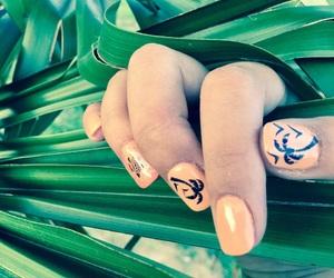 nails, tropical, and nailart image