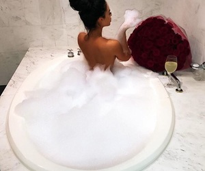 drink, luxury, and roses image