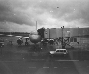 airplane, black, and film image