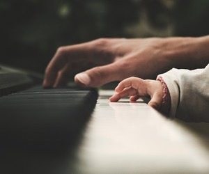 baby, piano, and music image