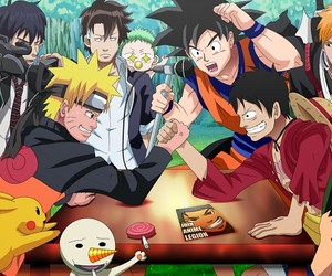 anime, naruto, and one piece image
