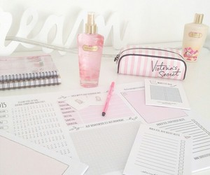 book, pink, and school image