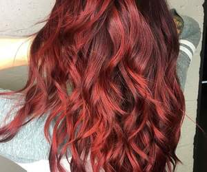 hair, red, and cabello image