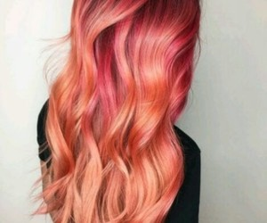 coral, hair, and pink image