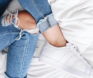 ripped jeans and tumblr image