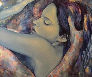 LOVERS INTERTWINED; TWIN FLAMES;  PAINTINGS; ART;