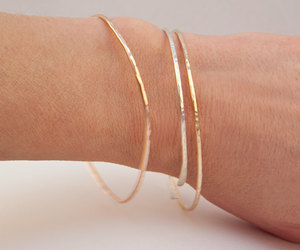 etsy, gold bangles, and gold filled image