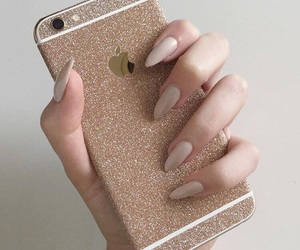 glamour, iphone, and nails image