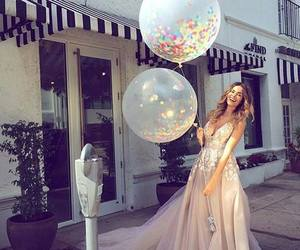 dress, fashion, and balloons image