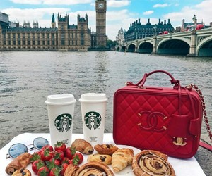 london, chanel, and food image