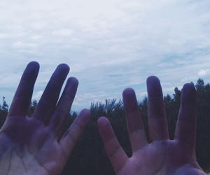 fake, hands, and nature image