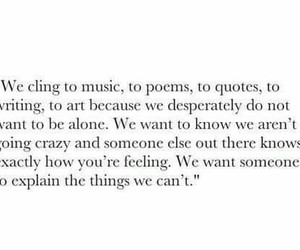 quote, alone, and music image